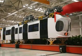 Китай начал строить подвесные железные дороги