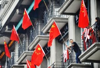 Китайский флаг как символ праздника