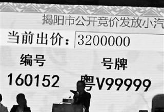 Самые дорогие автомобильные номера в Китае ушли с аукциона за $463 тыс