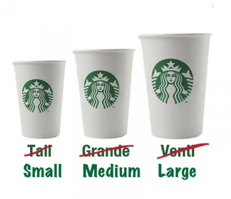 starbucks size