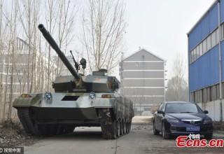 Китайский кулибин построил танк из подручных материалов