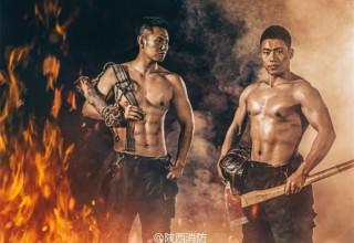 Китайские пожарные выпустили горячий календарь на 2017 год