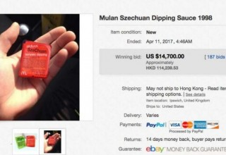 Пакетик сычуаньского соуса из McDonald's продали на eBay за $15 тыс