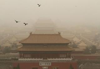 Песчаные бури накрыли Северный Китай