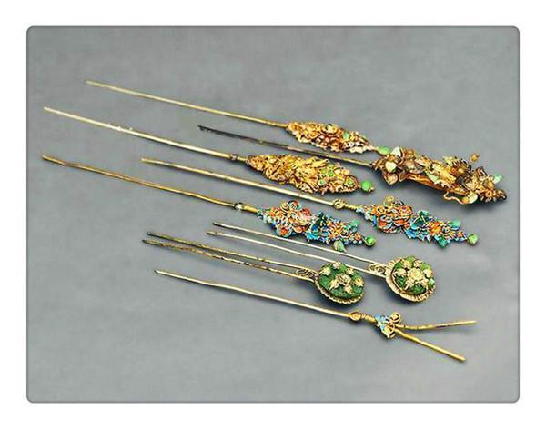 Шпильки для волос, которые использовали китаянки в древности. Фото: China Daily