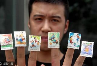 Почта Китая выпустила оригинальные марки ко Дню защиты детей