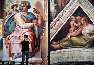 В Шанхае воссоздали фрески Микеланджело (ФОТО)