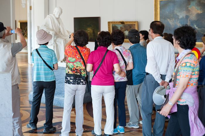 Китайские туристы в Эрмитаже