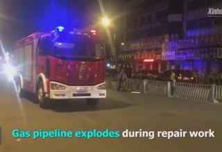 В результате взрыва газа на северо-востоке Китая пострадали 89 человек