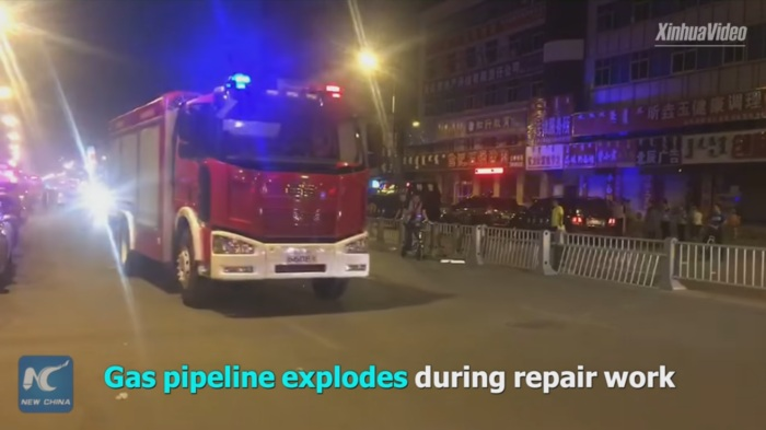 Жертвами взрыва нагазопроводе вКитайской народной республике стали 5 человек