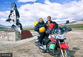 Путешествие в Тибет на мотоцикле: сын исполнил мечту своей 84-летней матери