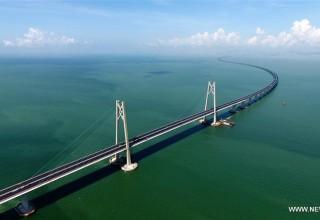 Самый длинный морской мост в мире откроется в Китае к концу 2017 года