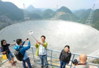 В Китае шумные туристы мешают поиску инопланетян