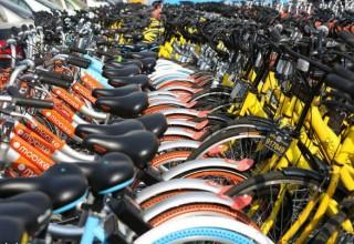 Китайские мегаполисы запретили байкшеринговым компаниям  увеличивать велопарк