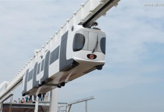 В Китае построят подвесные железные дороги