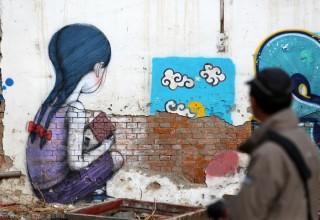 Стрит-арт на улицах Китая от французского художника Жульена Малланда