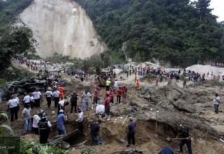 В Китае не менее 9 человек оказались под завалом из-за оползня