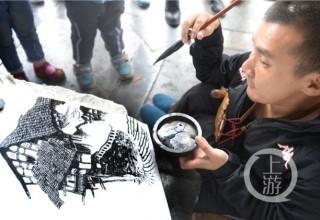 Бездомный инвалид из Китая стал известным художником