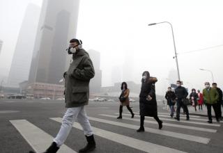 Китай объявил «желтый» уровень загрязнения воздуха