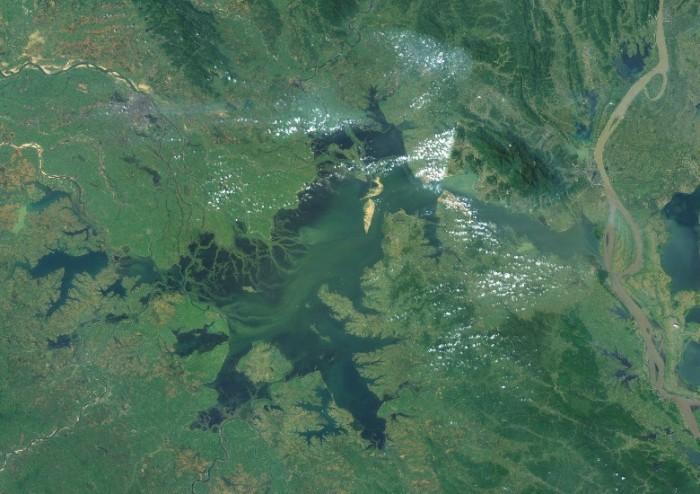 китай природа озеро