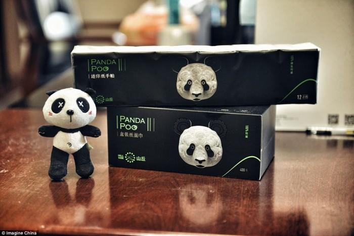 Китайцы превратили экскременты панд в салфетки