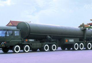 Китай провел испытания мощнейшей баллистической ракеты