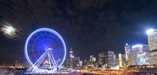 60-метровое колесо обозрения, недавно запущенное в Гонконге.