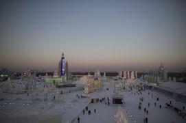 Панорама 31-го Харбинского международного фестиваля льда и снега. Он проходит с 5 января по 25 февраля.