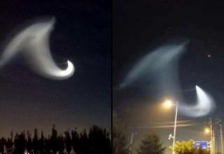 Жители северного Китая увидели НЛО в ночном небе