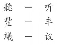 Традиционные и упрощенные китайские иероглифы
