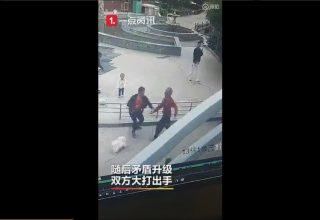 Китаец избил 80-летнего старика. Ему не понравилось, что пенсионер выгуливает собак