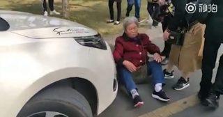 бабушка преграждает путь кортежу